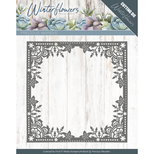 Precious Marieke - Die - Winter Flowers - Ice Flower Frame - PM10138