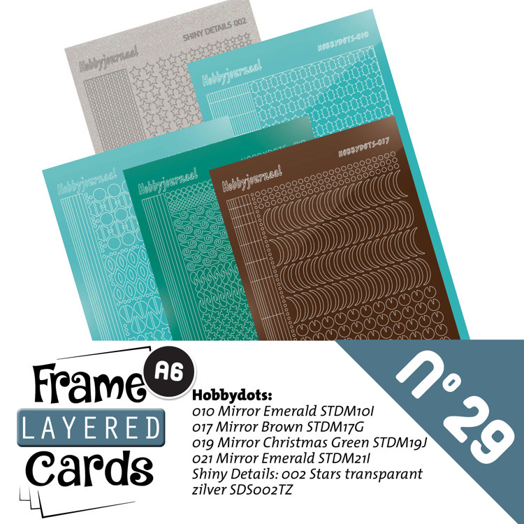Hobbyjournaal - Stickerset - Frame Layered Cards - No. 29 - LCST029