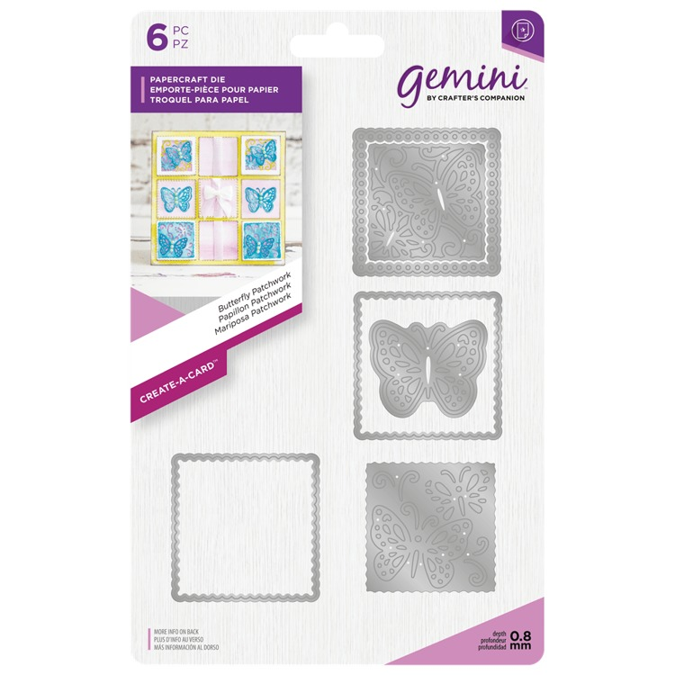 Gemini - Die - Create-a-Card - Butterfly Patchwork - GEM-MD-CAD-BUTP