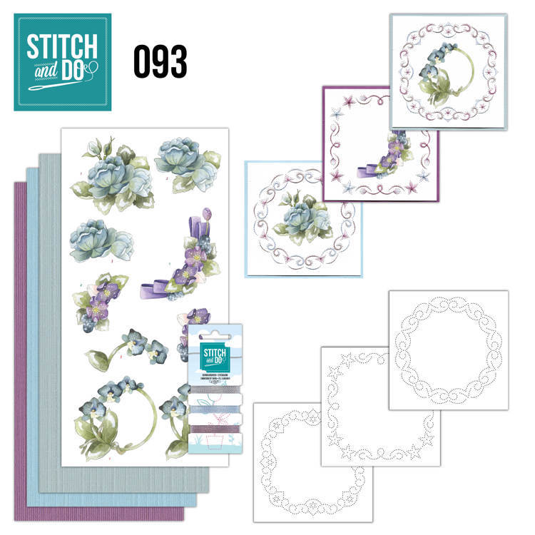 Card Deco - Kaartenpakket - Stitch & Do No. 93 - Winterflowers - STDO093