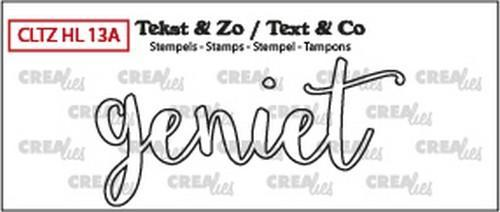 Crealies - Clearstamp - Tekst & Zo - No. 13A - Handlettering - Geniet (oml.) - CLTZH13A