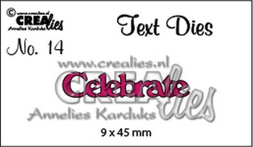 Crealies - Die - Tekst - Celebrate - CLTD14