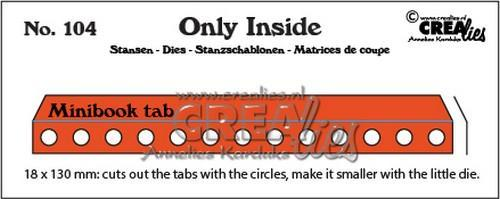 Crealies - Die - Only Inside - No. 104 - Minibook holes with tab - CLOI104
