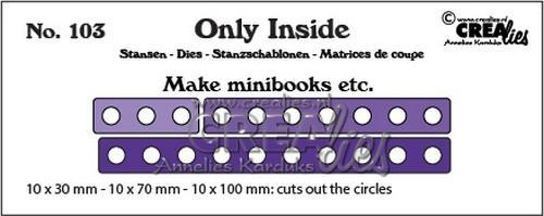 Crealies - Die - Only Inside - No. 103 - Minibook holes - CLOI103