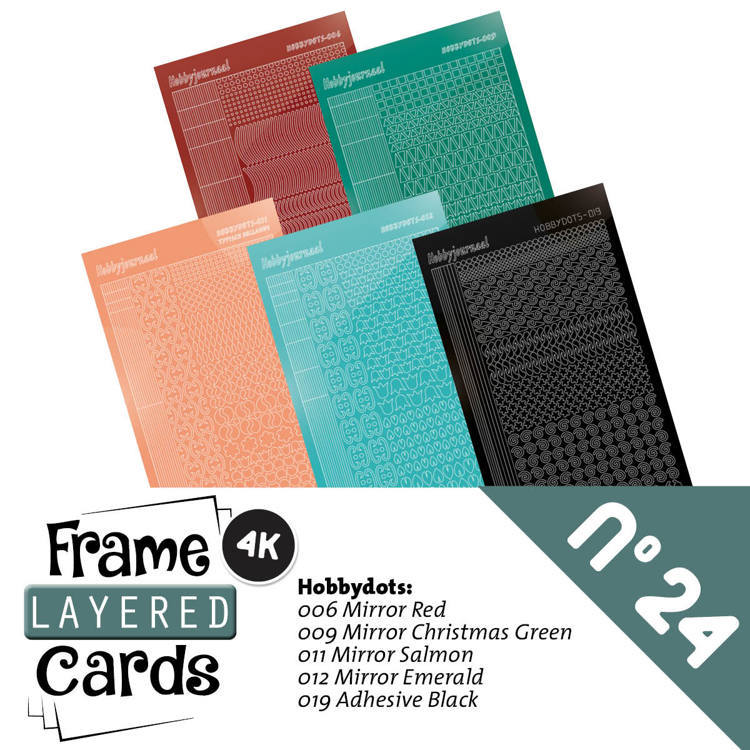 Hobbyjournaal - Stickerset - Frame Layered Cards - No. 24 - LCST024