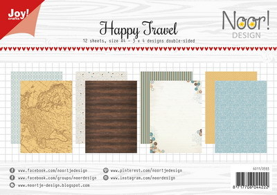 Joy! crafts - Noor! Design - Paperset - Happy Travel - 6011/0593