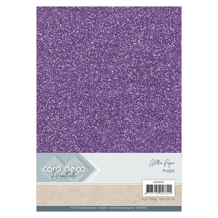 Card Deco - Essentials - Glitter Paper: Purple - CDEGP015