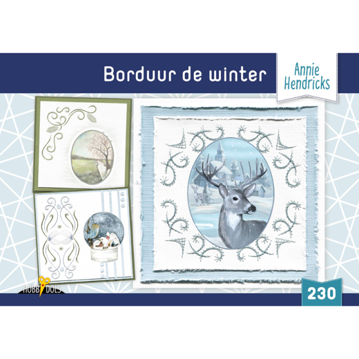 Card Deco - Hobbydols - No.230 - Borduur de Winter - HD230