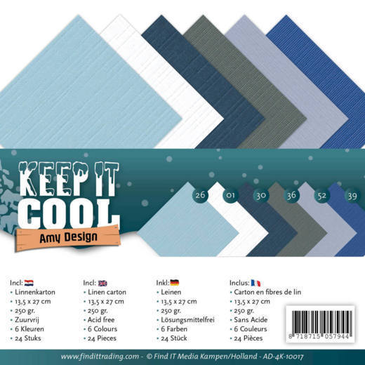 Amy Design - Linnenpakket 135 x 270mm - Keep it Cool - AD-4K-10017