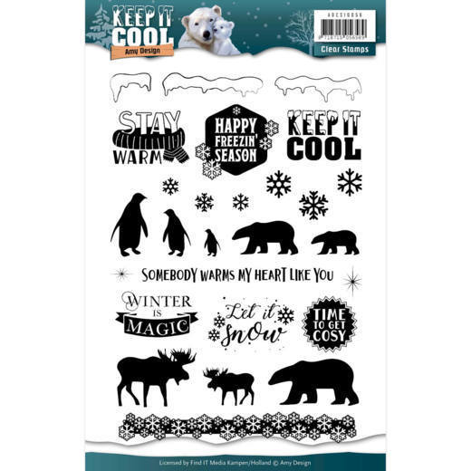Amy Design - Clearstamp - Keep it Cool - ADCS10056