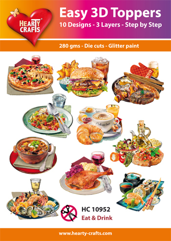 Hearty Crafts - Easy 3D Toppers - Eat & Drink - HC10952