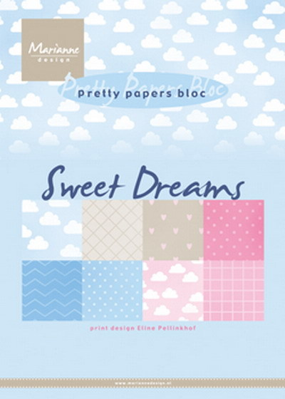 Marianne Design - Paperpack - Pretty Papers - Eline's Sweet Dreams - PB7055