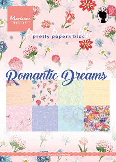 Marianne Design - Paperpack - Pretty Papers - Romantic dreams - PK9160