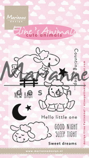 Marianne Design - Eline Pellinkhof - Clearstamp - Eline's cute animals - Sheep - EC0175