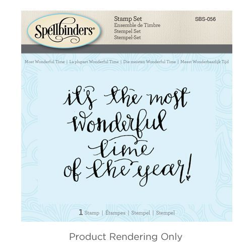 Spellbinders - Cling Stamp - Most Wonderful Time - SBS-056