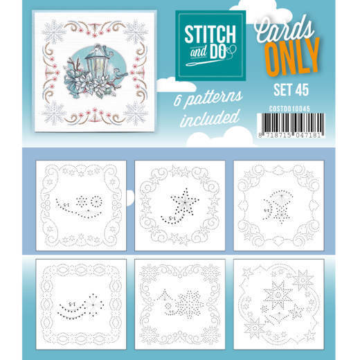 Card Deco - Stitch & Do - Oplegkaarten - Cards only - Set 45 - COSTDO10045