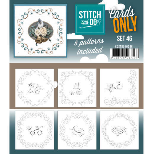 Card Deco - Stitch & Do - Oplegkaarten - Cards only - Set 46 - COSTDO10046