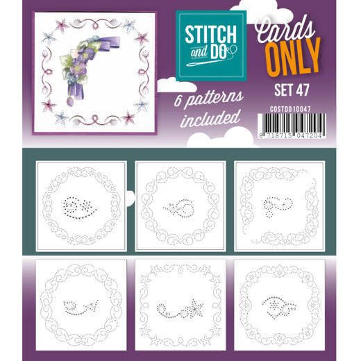 Card Deco - Stitch & Do - Oplegkaarten - Cards only - Set 47 - COSTDO10047