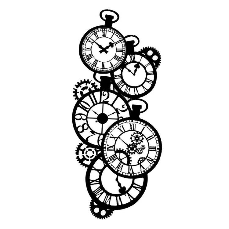Stamperia - Maskingstencil - Clocks - KSTDL01