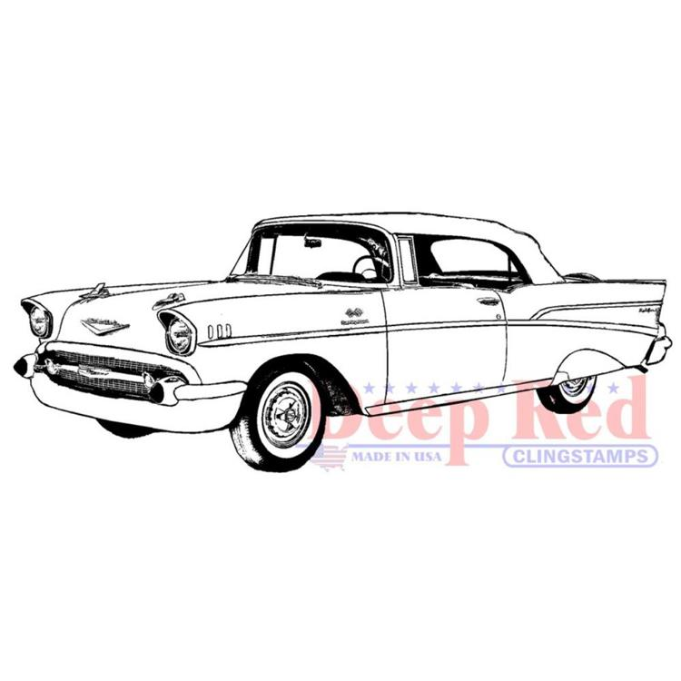 Deep Red - Cling Stamp - Chevy Bel Air - 3X405701