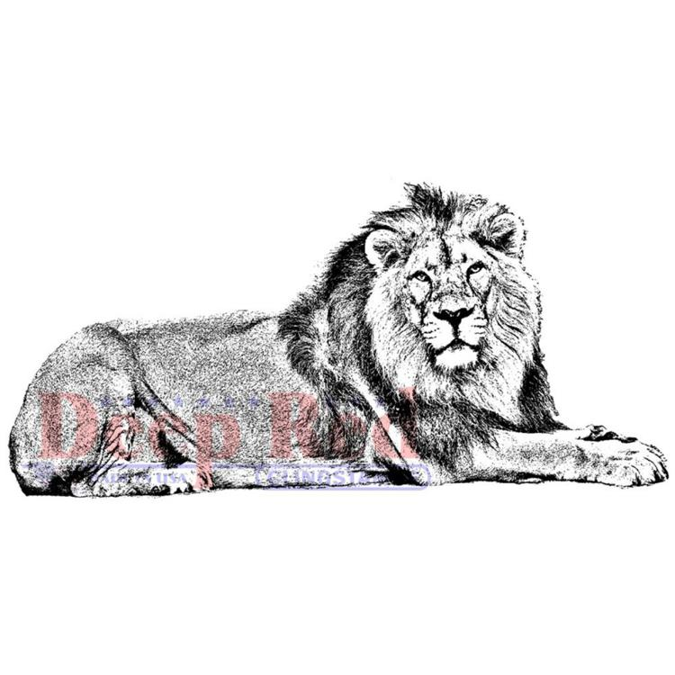 Deep Red - Cling Stamp - Lion - 3X405702