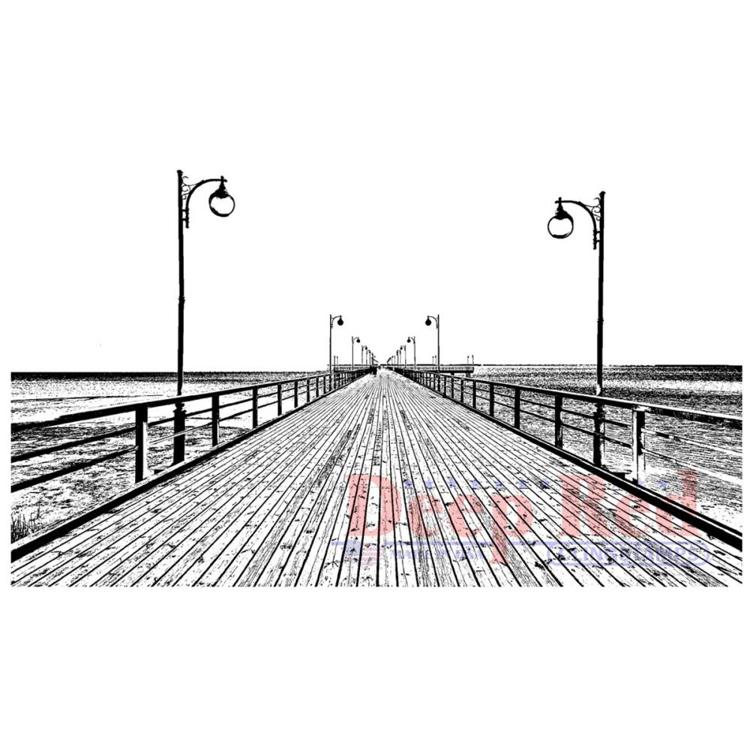 Deep Red - Cling Stamp - Boardwalk - 4X505712
