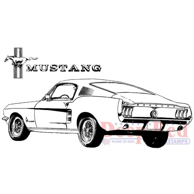 Deep Red - Cling Stamp - Mustang Fastback - 4X505713