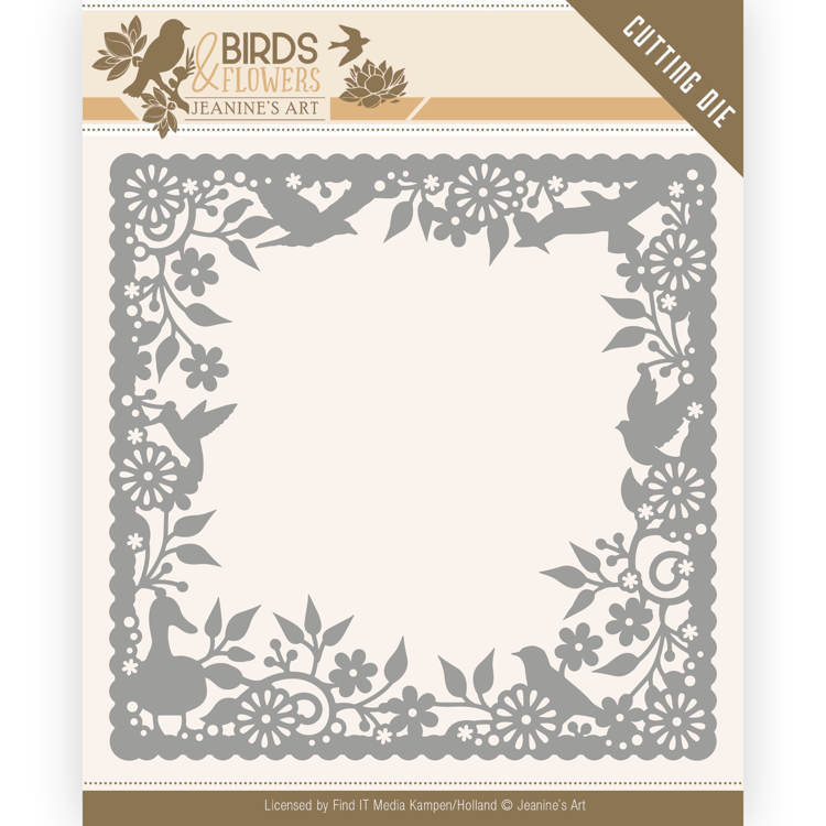 Jeanine`s Art - Die - Birds and Flowers - Birds Frame - JAD10057