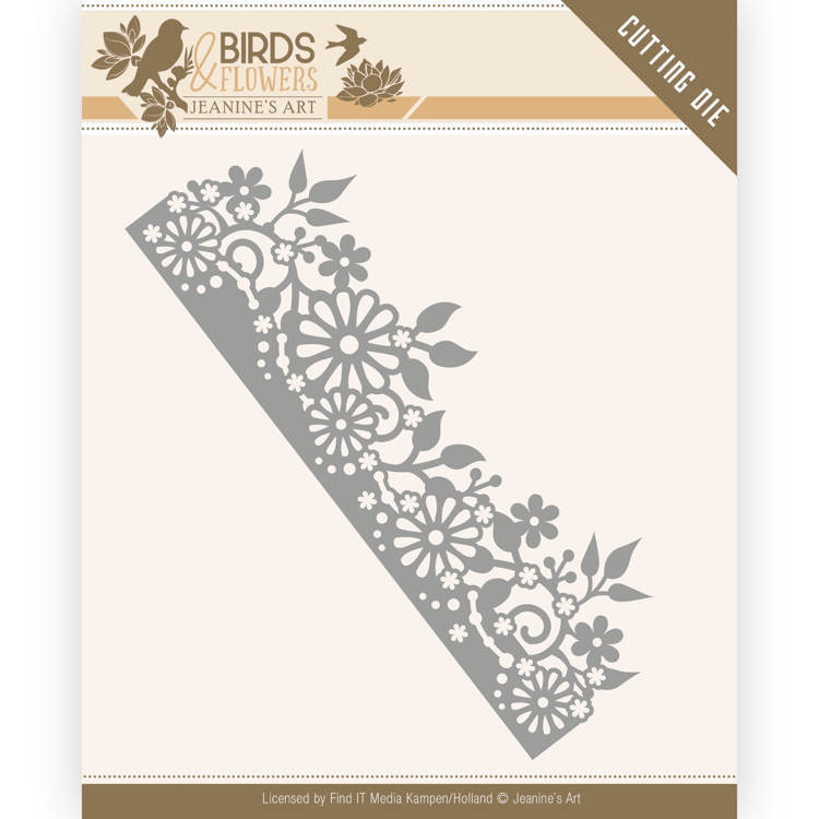 Jeanine`s Art - Die - Birds and Flowers - Daisy Border - JAD10058