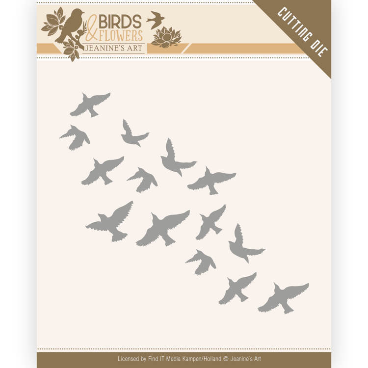 Jeanine`s Art - Die - Birds and Flowers - Flock of Birds - JAD10061