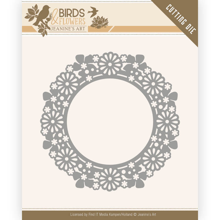 Jeanine`s Art - Die - Birds and Flowers - Flower Circle - JAD10059