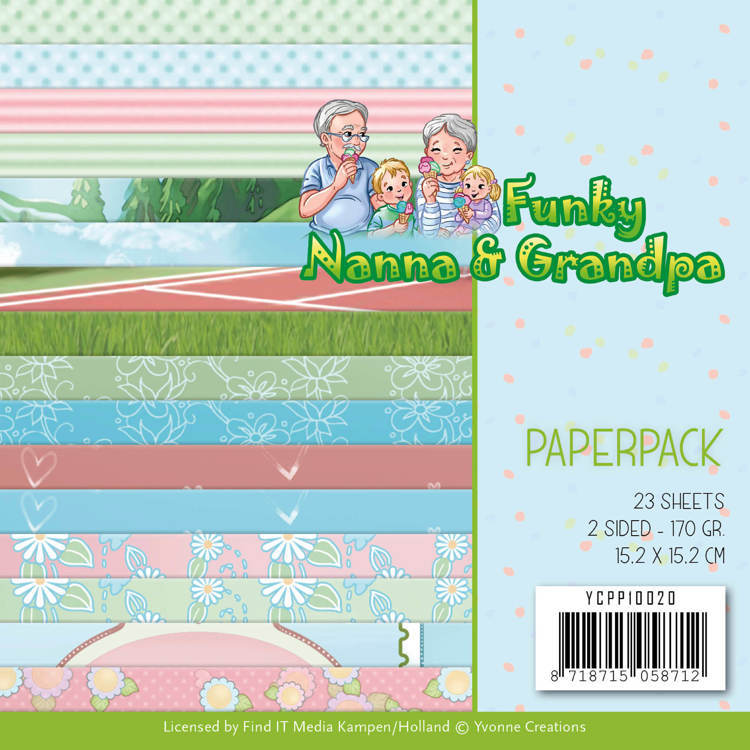 Yvonne Creations - Paperpack - Funky Nanna & Grandpa - YCPP10020