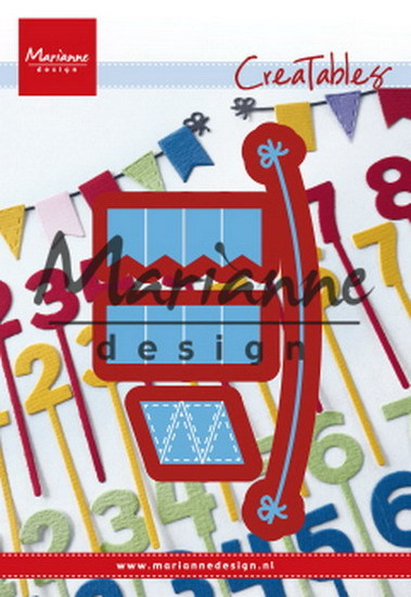 Marianne Design - Die - CreaTables - Bunting Banners - LR0581