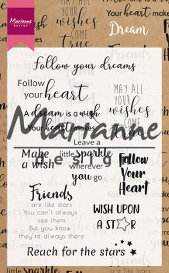 Marianne Design - Clearstamp - Dream sentiments (UK) - CS1018