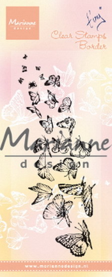 Marianne Design - Clearstamp - Tiny`s Border Butterflies - TC0870