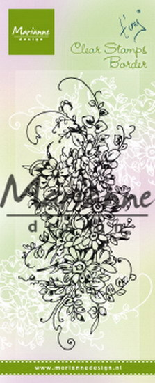 Marianne Design - Clearstamp - Tiny`s Border Bouquet - TC0872