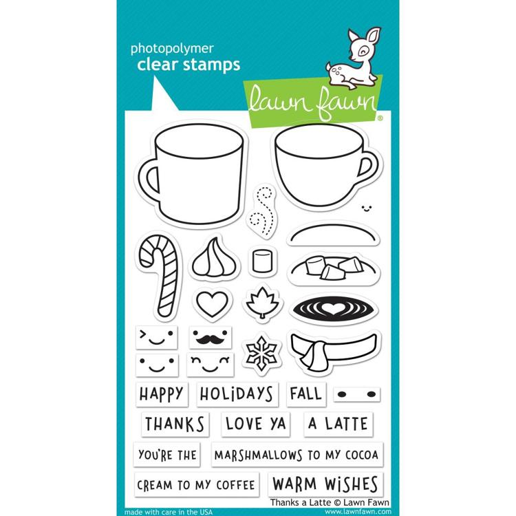 Lawn Fawn - Clearstamps - Thanks a Latte - LF1761