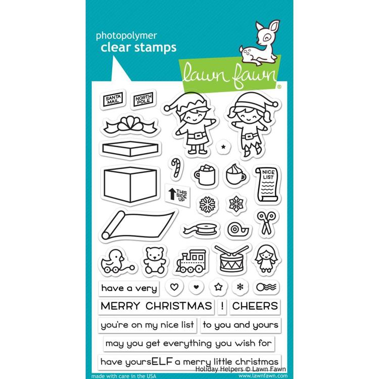 Lawn Fawn - Clearstamps - Holiday Helpers - LF1767
