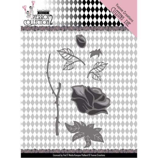 Yvonne Creations - Die - Pretty Pierrot 2 - Rose - YCD10163