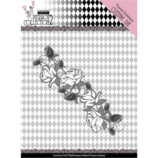 Yvonne Creations - Die - Pretty Pierrot 2 - Rose Border - YCD10162