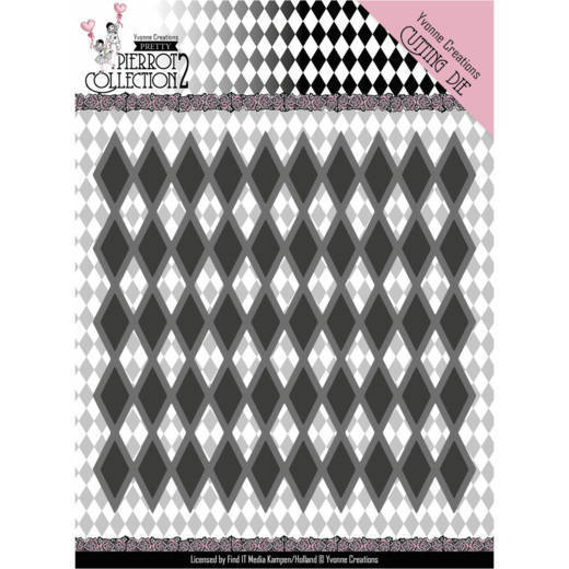 Yvonne Creations - Die - Pretty Pierrot 2 - Diamond Pattern - YCD10161