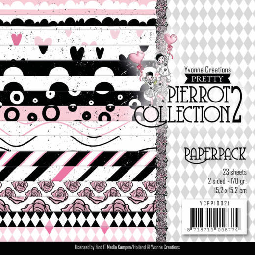 Yvonne Creations - Paperpack - Pretty Pierrot 2 - YCPP10021