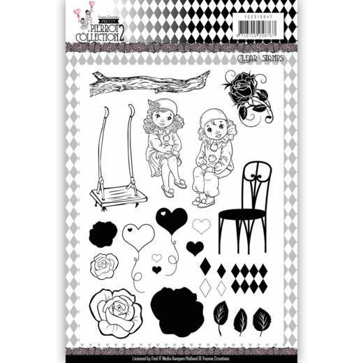 Yvonne Creations - Clearstamp - Pretty Pierrot 2 - YCCS10047