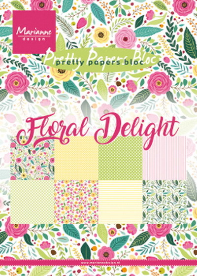 Marianne Design - Paperpack - Pretty Papers - Floral Delight - PK9161