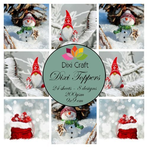 Dixi Craft - Paperpack - Gnome & snowman - ETL016