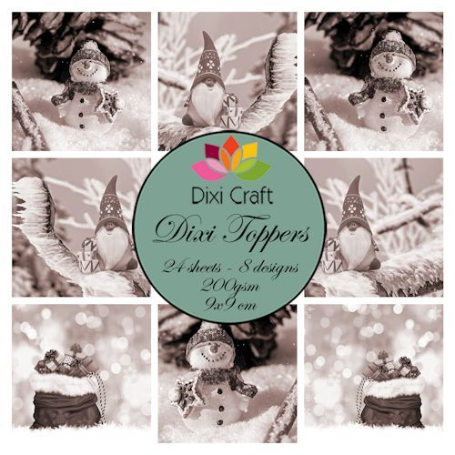 Dixi Craft - Paperpack - Gnome & snowman: Brown - ETL017