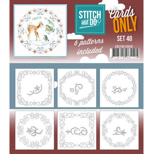 Card Deco - Stitch & Do - Oplegkaarten - Cards only - Set 48 - COSTDO10048
