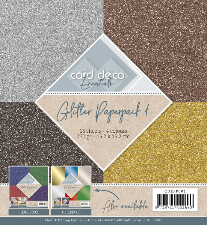 Card Deco - Essentials - Paperpack - Glitter - CDEPP001