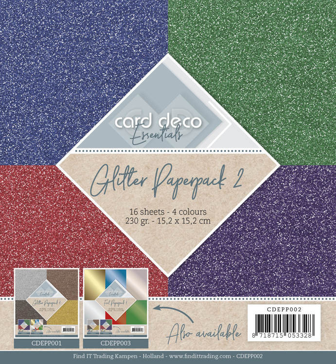 Card Deco - Essentials - Paperpack - Glitter - CDEPP002