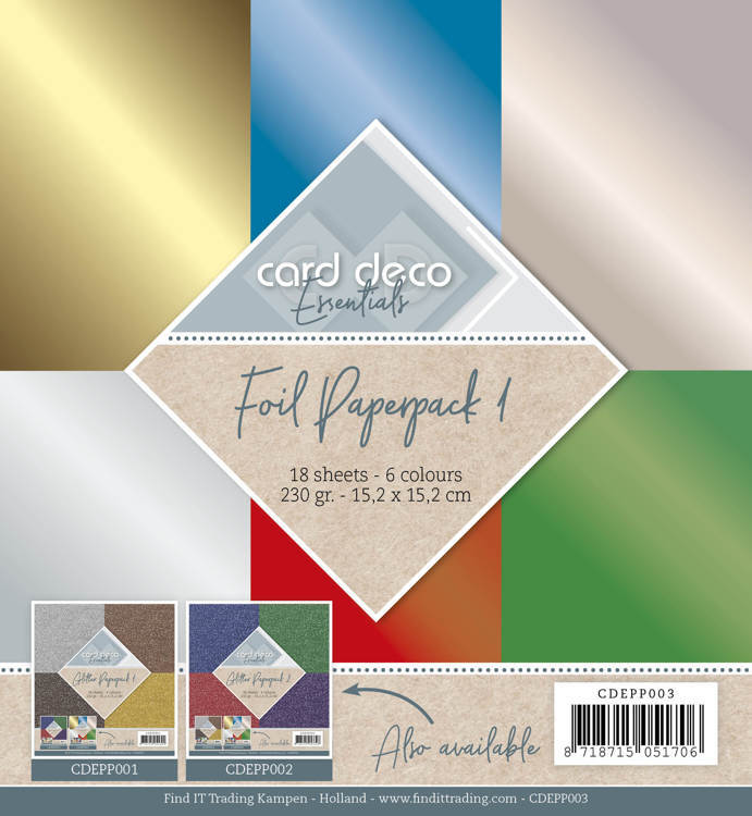 Card Deco - Essentials - Paperpack - Foil - CDEPP003